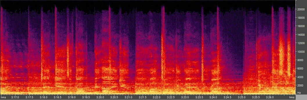 Спектрограмма OGG Vorbis -q9 (~350 кбит/с)